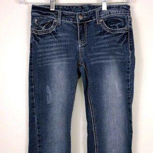 Ariya Stretch Jeans Wm Juniors Sz 5/6 Distressed